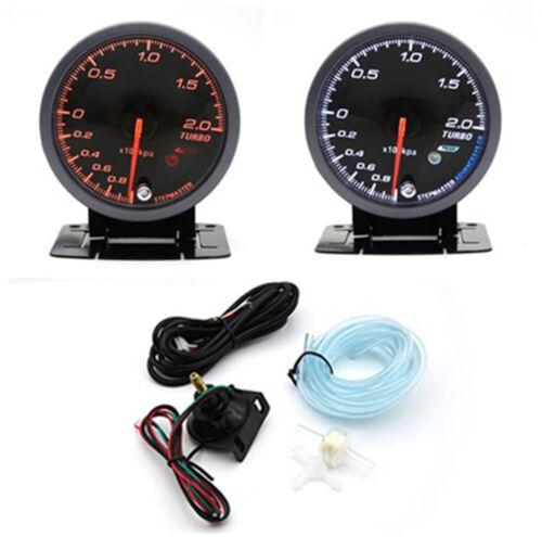 12V Turbo Petrol Vehicles 2.5 Inch LED Turbo Boost Meter Gauge Pressur