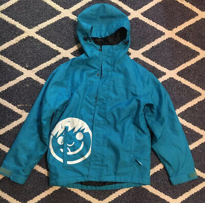 neff blue snowboard jacket youth medium