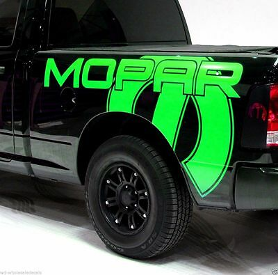 Vinyl Decal MOPAR Wrap Kit for 2009-2018 Dodge Ram 1500/2500/3500 6.5 BED Green