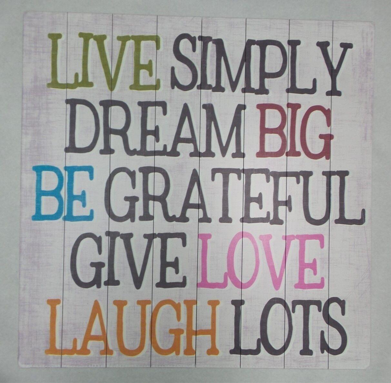 Wall Decor Live Simply Dream