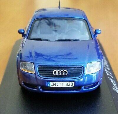 AUDI TT COUPE BLUE - MINICHAMPS 1/43 scale Dealer Edition Model car