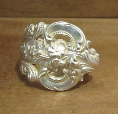 Spoon Ring Band, Wallace Grand Baroque Sterling Silver 18 grams, Size 9, #218