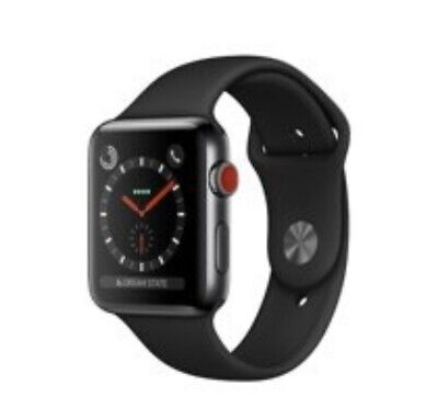 iWatch Series 3 Black Stainless Steel Cellular GPS