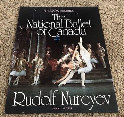 Original 1970's Rudolf Nureyev National Ballet of Canada Window Card Poster