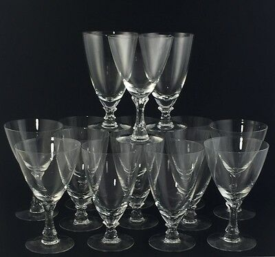 Fostoria Courtship Crystal 16 Pc Set Water Goblets Iced Tea Glass Vintage Signed