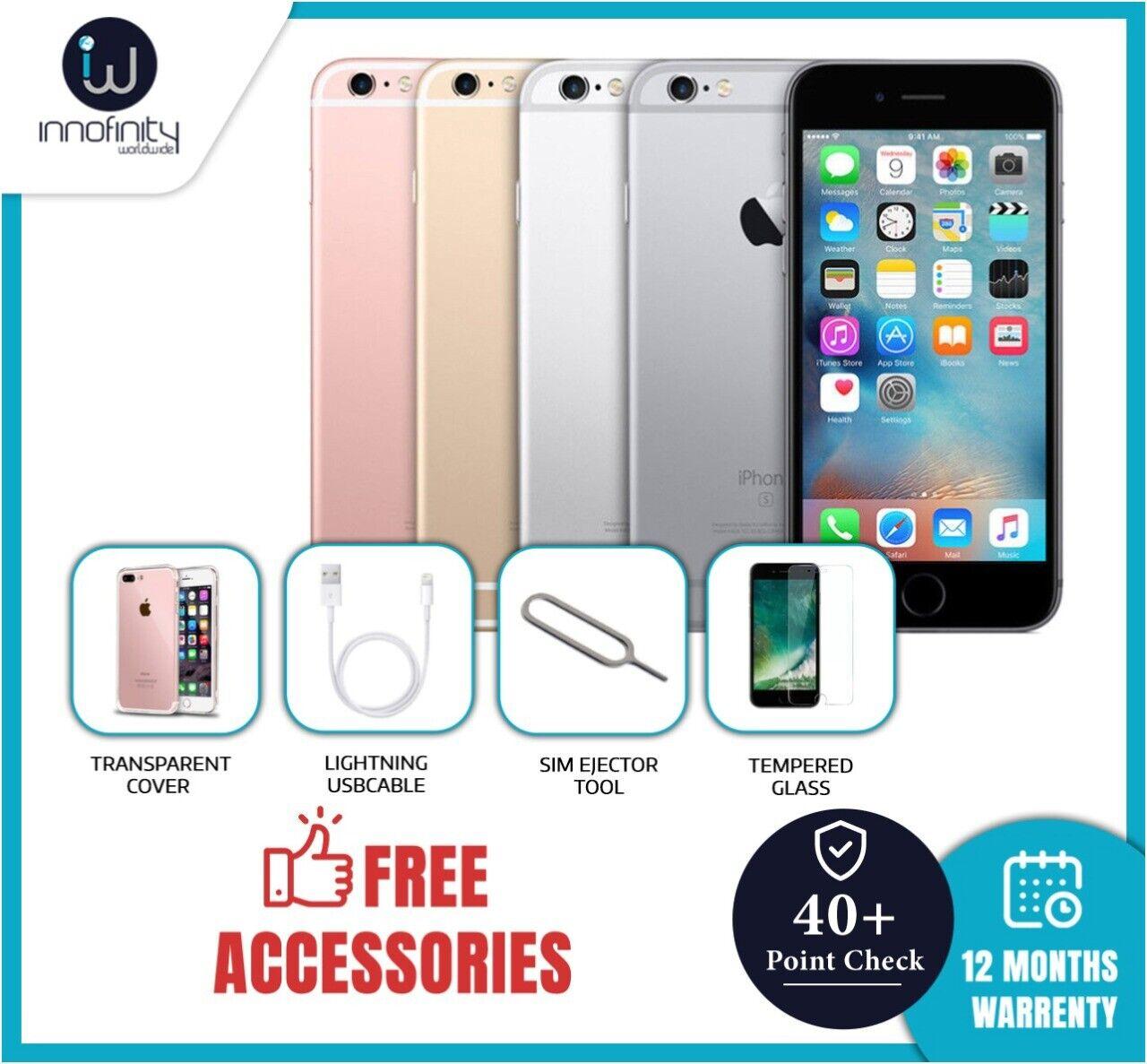 1 von 10 : Apple iPhone 6s 16GB 32GB 64GB 128GB Unlocked SIM Free Smartphone Various Grades • 68,45 €