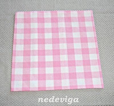 Wärmekissen - Kirschkern-Kissen & Bezug waschbar - Handarbeit - Karo Rosa