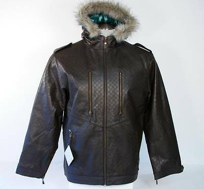 New Special Blend Mens Jacket (Special Blend Brown Leather Hooded Jacket Mens Medium M)