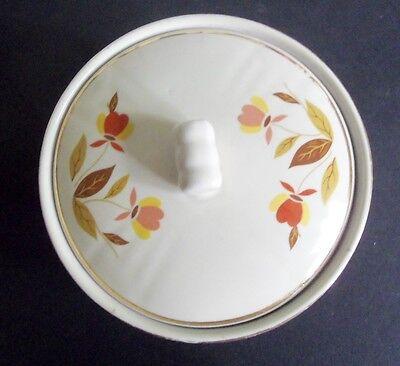 Hall China Jewel Tea Autumn Leaf  Covered Grease Jar with Lid