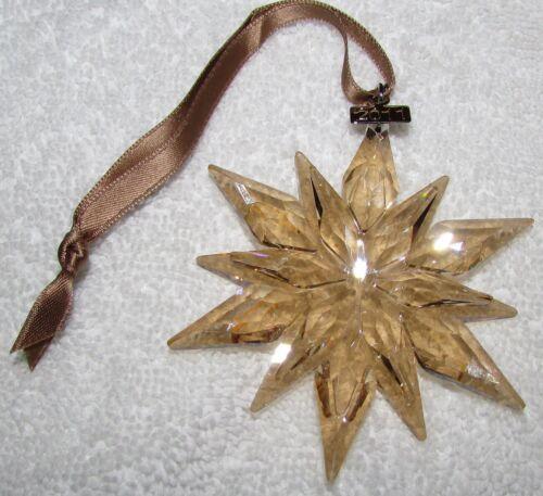 2011 Swarovski SCS GOLD Crystal Ornament, Large Annual Edition, MINT