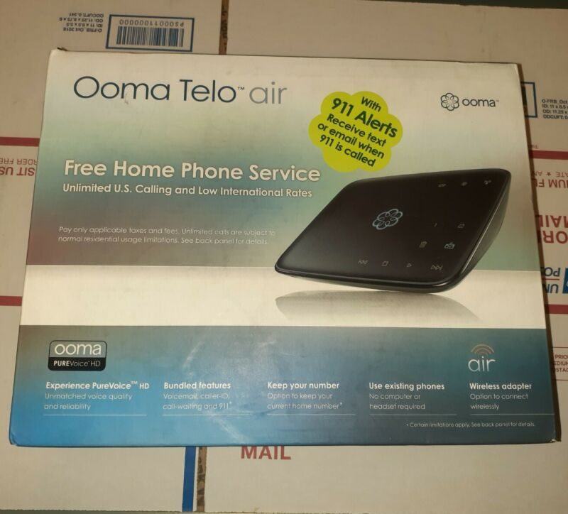 OOMA Ooma Telo Air Telo Free Home Phone Service with Wireless Adapter NEW SEALED