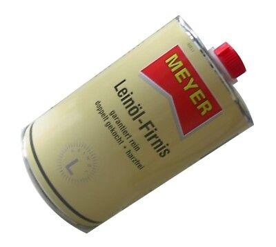 Meyer Leinölfirnis Firnis 1,0 Liter Leinöl Lackfirnis Holzschutz Harzfrei