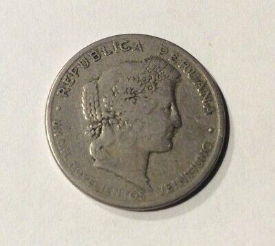 1921 Peru 20 Centavos Coin