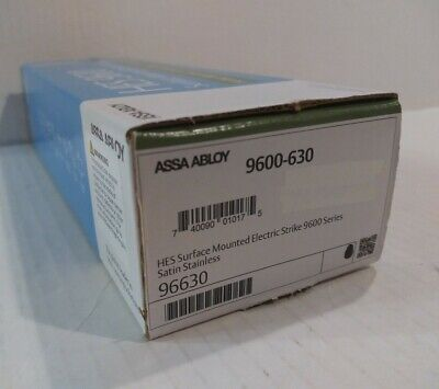 Assa Abloyhes 9600-630 Electric Strike 1224vdc Stainless Steel. New In Box.