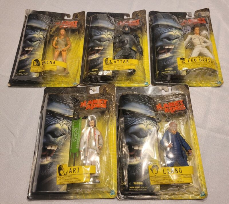 Vintage 2001 Planet of the Apes Action Figure Lot New Damaged Packaging