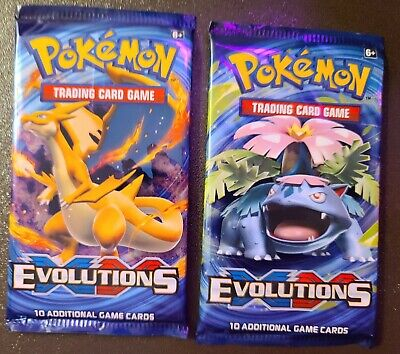 POKEMON TCG XY EVOLUTIONS FACTORY SEALED BOOSTER PACKS (2)!!!