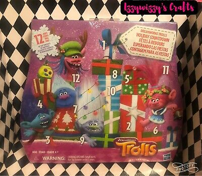 DreamWorks Trolls Holiday Countdown Advent Calendar 12 Days of Toys