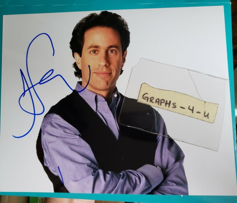 Jerry Seinfeld Signed Autograph COA q