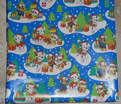 AMERICAN GREETINGS PAW PATROL KIDS CHRISTMAS Wrapping PAPER 20 SQ FT ROLL
