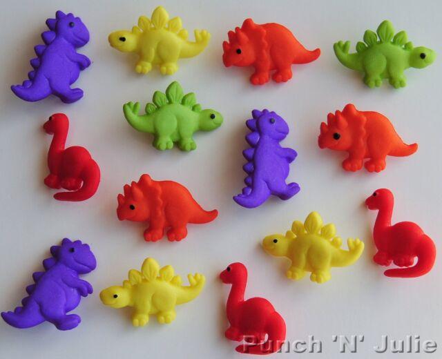 TINY DINOS Cute Baby Dinosaur Children Animal Novelty Dress It Up Craft Buttons