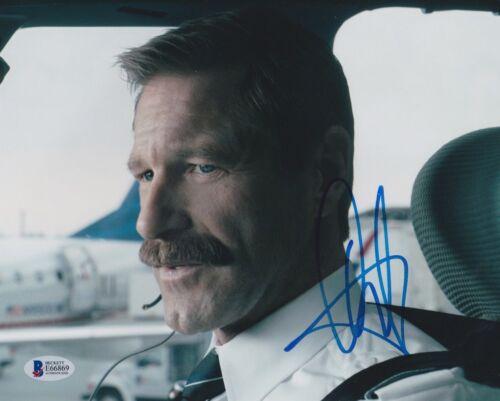 AARON ECKHART SIGNED 8X10 PHOTO SULLY BECKETT BAS AUTOGRAPH AUTO COA E