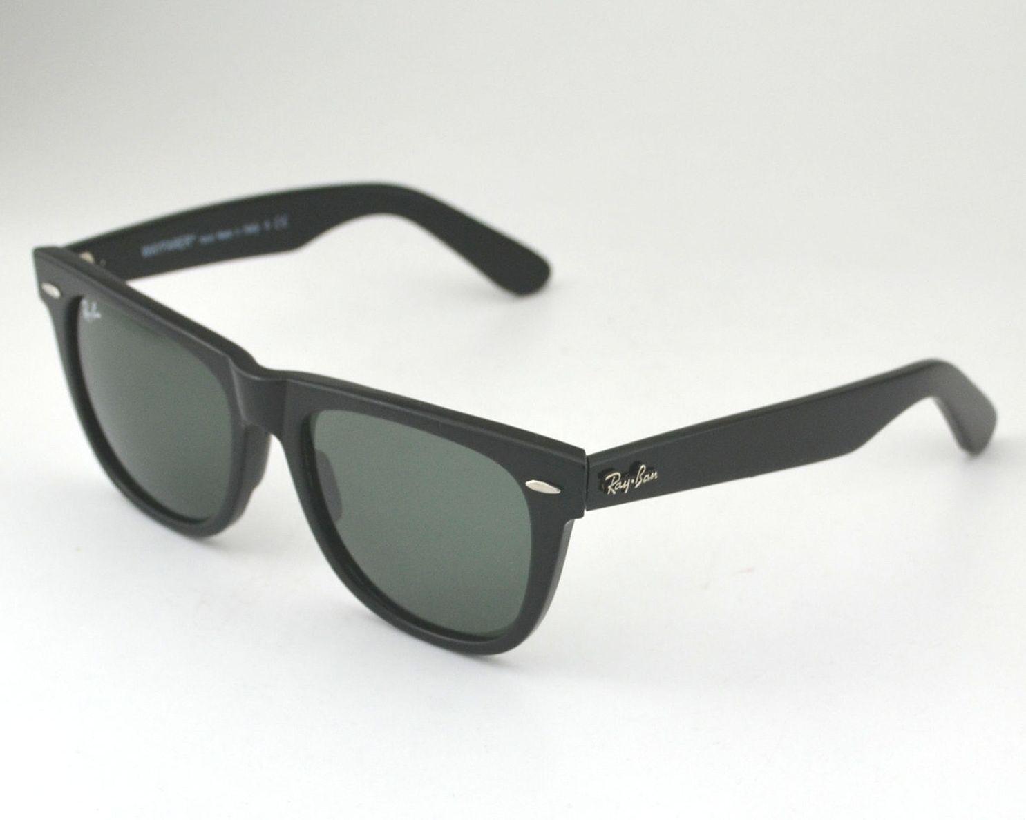 Ray Ban RB 2140 Original Wayfarer 901 Black Frame/ Green Classic G-15 Glass 54mm