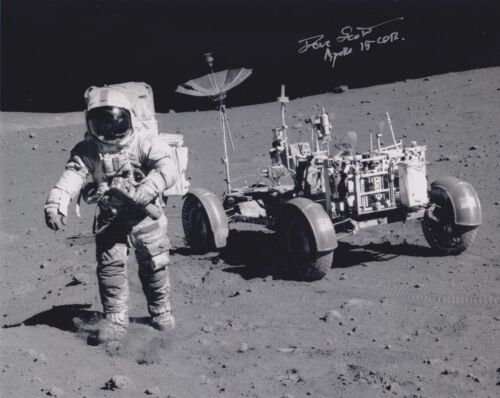 DAVE SCOTT APOLLO 15  MOON WALKER -ROVER EVA- SIGNED 8x10 PHOTO NASA W-COA MINT