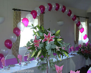 Top table buffet table large helium balloon arch diy kit for Balloon arch no helium