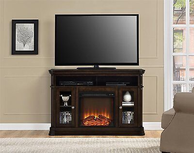 Fireplace Electric TV Stand Heater Remote Control Entertainment Center Console