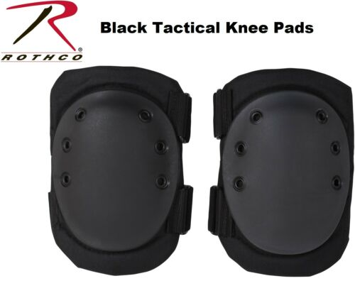 Black Military Tactical Protective Gear Knee Pads 11058 Rothco