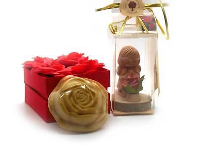 Geschenkset Rosen Schutzengel und Rosenseife Beauty Wellness Muttertag Duftset