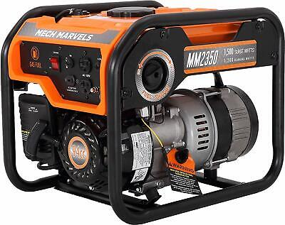 Mech Marvels 1500-w Quiet Portable Gas Powered Generator Home Backup Rv Camping