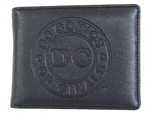 OFFICIAL DC COMICS SYMBOL BLACK EMBOSSED INSIDE COMIC PRINT WALLET IN METAL TIN