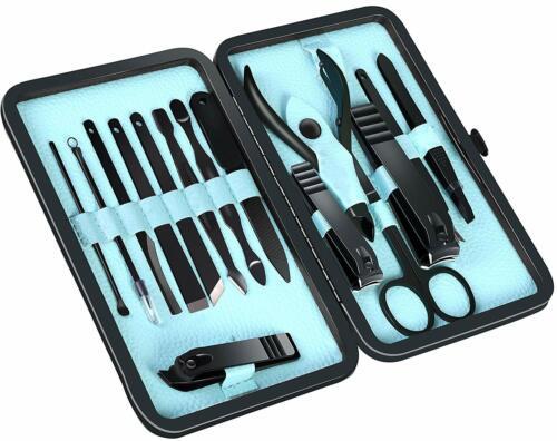 15 Piece Manicure Pedicure Nail Care Set Cutter Cuticle Clippers Kit Utopia Care