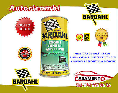 BARDAHL TRATTAMENTO OLIO ENGINE TUNE UP & FLUSH PULITORE MOTORE 326ml