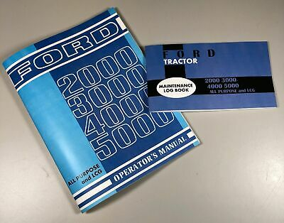 Ford 2000 3000 4000 5000 Tractor Operators Owners Manual All Purpose Lcg W Log