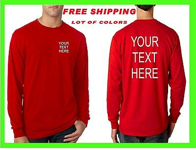 Buy your Custom Personalized LONG SLEEVE T Shirt Put Your TEXT Camisetas - Buy Custom
