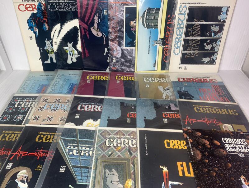 Lot of (24) CEREBUS Aardvark - Vanaheim Comic Books