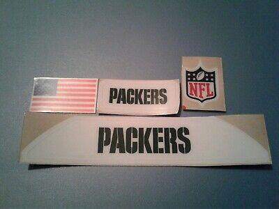 Green Bay Packers VSR4  bumpers helmet decal - Green Bay Helmets