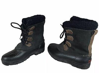 Sorel Alpine Leather Boots Womens Size 9 Fleece Lined Winter Snow Waterproof