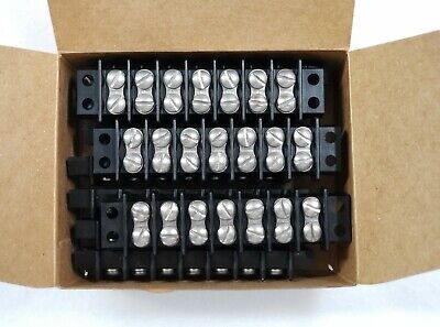 10 Pcs Trw Cinch 7-140 Connector 7-position Terminal Strip Block 16-22 Awg New