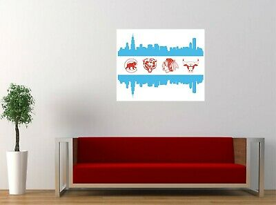Home Decor Tips For Small Homes Chicago Sport Teams Logo Mashup Fan Art Decor Vinyl Decal Wall Sticker 24