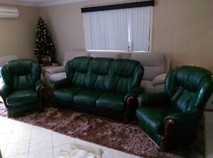REAL Italian leather couches- really good condition Baulkham Hills The Hills District Preview