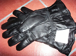Super-Soft-Solid-Leather-Motorcycle-Gloves-Mens-Size-EXTRA-LARGE-Thinsulated