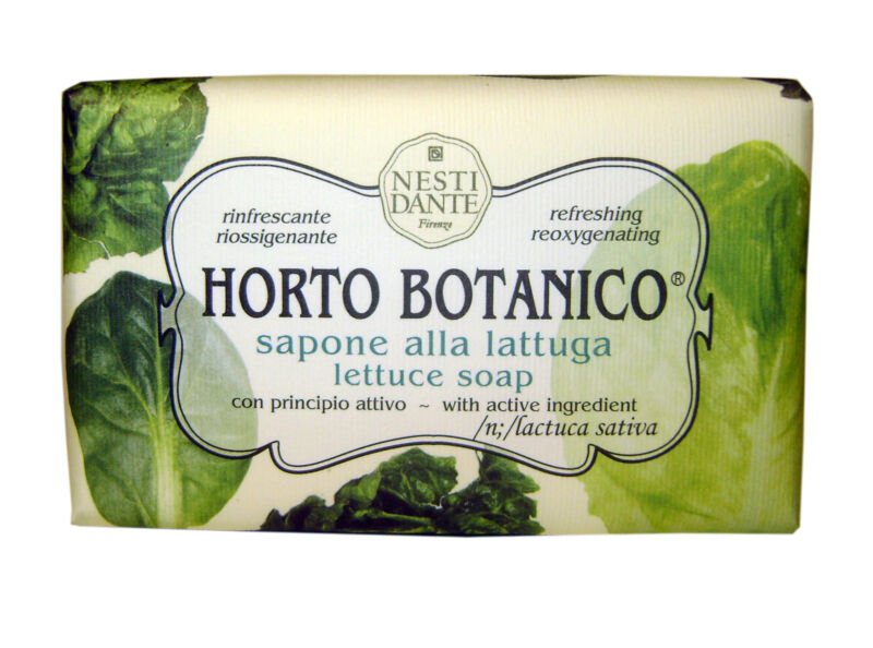 Nesti Dante Bar Soap Horto Botanico Lettuce Natural Bath and Body Vegetable & by