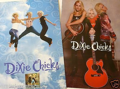 "DIXIE CHICKS ""WIDE OPEN SPACES"" 2-SIDED U.S. PROMO ALBUM POSTER - Country Music"