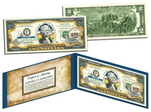 HAWAII Statehood $2 Two-Dollar U.S. Bill HI State Genuine Legal Tender