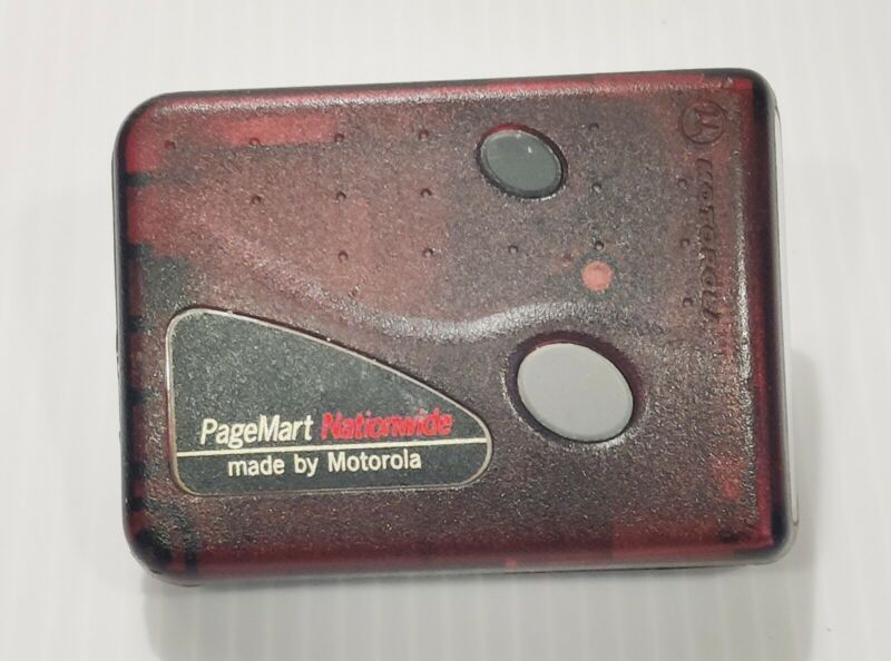 Vintage Motorola PageMart Nationwide tested still works clip on belt New Battery