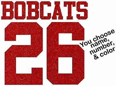 Iron Jersey Letters - Sport Team Mom Jersey Letters Numbers Custom GLITTER Iron On Transfer Bling