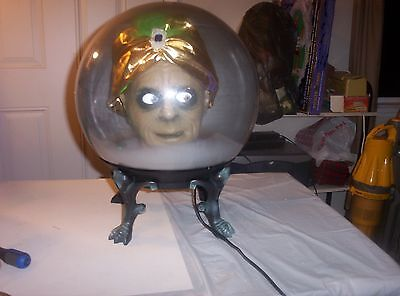 GEMMY HALLOWEEN FORTUNE TELLING SWAMI SPIRIT BALL W/ADAPTER AND BOX-18